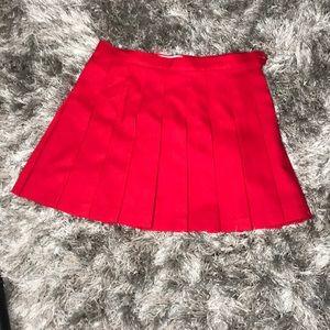 Red tennis skirt!